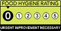 Food hygiene rating 0. Urgent Improvement Necessary
