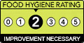 Food hygiene rating 2. Improvement Necessary