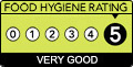 Food hygiene rating 5. Very Good